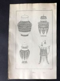 L'Univers C1850 Antique Print. Chinese Vases, China 43